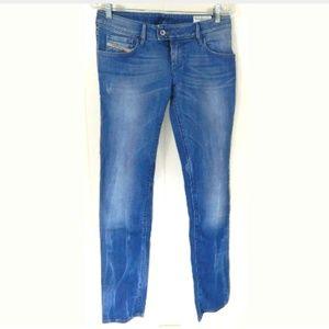 Diesel Nevy Slim Tapered Distressed Jeans